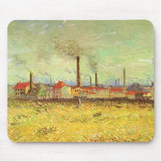 Fábricas en Asnieres, Van Gogh, bella arte del vin Tapetes De Raton