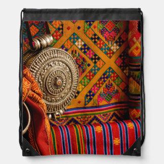 Fabrics, Bhutan Drawstring Bag