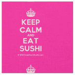 [Crown] keep calm and eat sushi  Fabrics Fabric