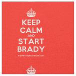 [Crown] keep calm and start brady  Fabrics Fabric