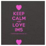 [Love heart] keep calm and love im5  Fabrics Fabric