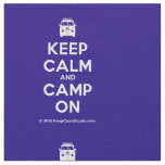 [Campervan] keep calm and camp on  Fabrics Fabric