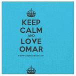 [Crown] keep calm and love omar  Fabrics Fabric