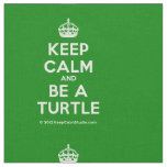 [Crown] keep calm and be a turtle  Fabrics Fabric