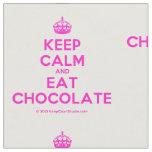 [Crown] keep calm and eat chocolate  Fabrics Fabric