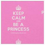 [Crown] keep calm and be a princess  Fabrics Fabric