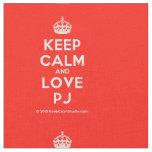 [Crown] keep calm and love pj  Fabrics Fabric