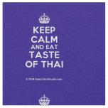 [Crown] keep calm and eat taste of thai  Fabrics Fabric