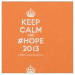 [Crown] keep calm and #hope 2013  Fabrics Fabric