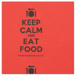 [Cutlery and plate] keep calm and eat food  Fabrics Fabric