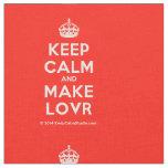 [Crown] keep calm and make lovr  Fabrics Fabric