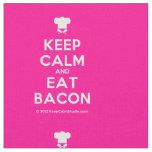 [Chef hat] keep calm and eat bacon  Fabrics Fabric