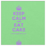 [Crown] keep calm and eat cake  Fabrics Fabric