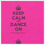 [Crown] keep calm and dance on  Fabrics Fabric