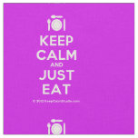 [Cutlery and plate] keep calm and just eat  Fabrics Fabric