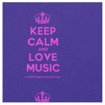 [Dancing crown] keep calm and love music  Fabrics Fabric
