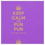 [Crown] keep calm and pun pun  Fabrics Fabric