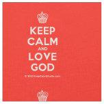 [Cupcake] keep calm and love god  Fabrics Fabric
