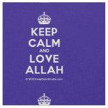 [Crown] keep calm and love allah  Fabrics Fabric