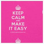 [Crown] keep calm and make it easy  Fabrics Fabric