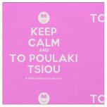 [Smile] keep calm and to poulaki tsiou  Fabrics Fabric