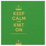 [Knitting crown] keep calm and knit on  Fabrics Fabric