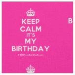 [Crown] keep calm it's my birthday  Fabrics Fabric
