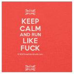 [UK Flag] keep calm and run like fuck  Fabrics Fabric