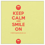 [Smile] keep calm and smile on  Fabrics Fabric