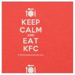 [Cutlery and plate] keep calm and eat kfc  Fabrics Fabric