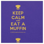 [Chef hat] keep calm and eat a muffin  Fabrics Fabric