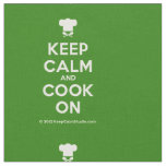 [Chef hat] keep calm and cook on  Fabrics Fabric