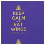 [Crown] keep calm and eat wings  Fabrics Fabric