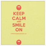[Smile] keep calm and smile on  Fabrics Fabric