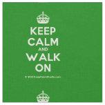 [Crown] keep calm and walk on  Fabrics Fabric