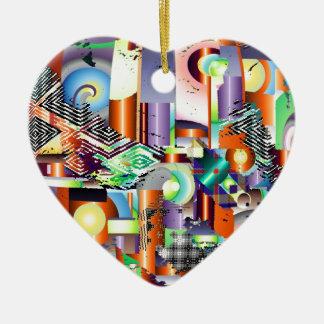 fabrique adorno navideño de cerámica en forma de corazón