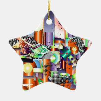 fabrique adorno navideño de cerámica en forma de estrella