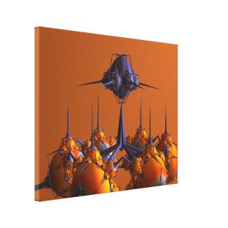 Fabrique un fractal extraño del naranja 3D Impresiones En Lona Estiradas