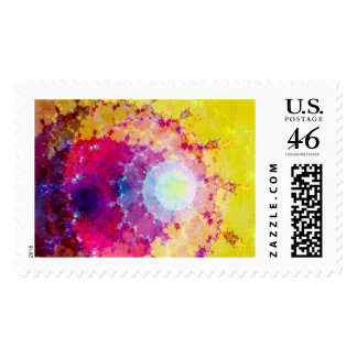Fabstract Rings Postage Stamp