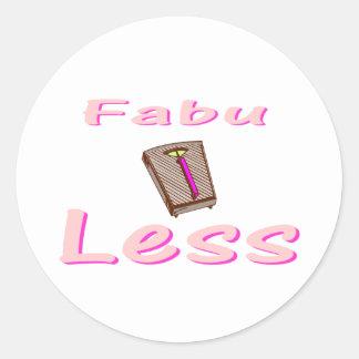 Fabu-less Classic Round Sticker