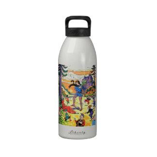 Fábula Pince y princesa Happy Ending Botella De Agua