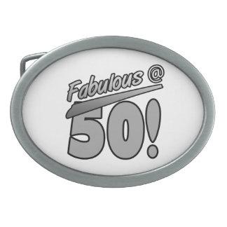 Fabuloso en 50 hebillas de cinturón ovales