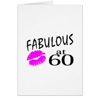 Fabuloso en 60 tarjeta de felicitación
