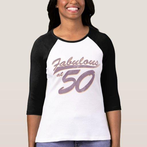 Fabuloso en el cumpleaños 50 camisetas