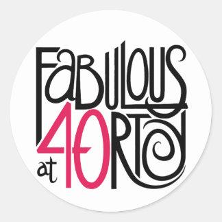 Fabuloso en el pegatina 40rty