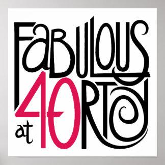 Fabuloso en el poster 40rty
