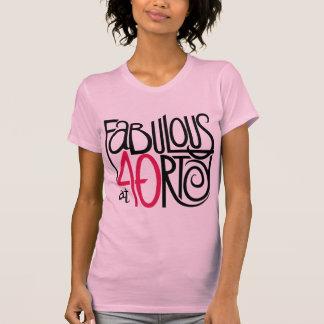 Fabuloso en la camiseta de las señoras 40rty