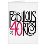 Fabuloso en la tarjeta 40rty