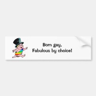 ¡Fabuloso gay nacido, por la opción! Pegatina Para Auto