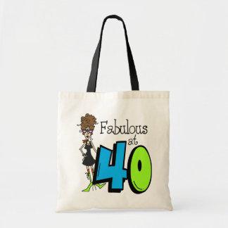 Fabuloso trigueno en el cumpleaños 40 bolsa tela barata